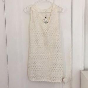 NWT Zara Contemporary White Shift Dress